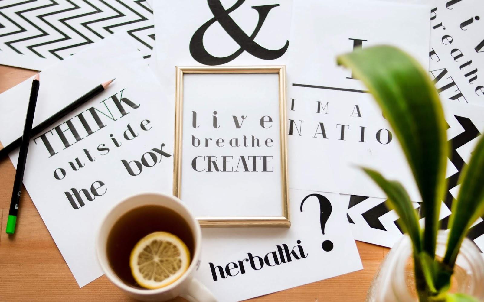 herbatka kreatywna: live, breathe, create
