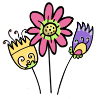 kwiatki male jasne