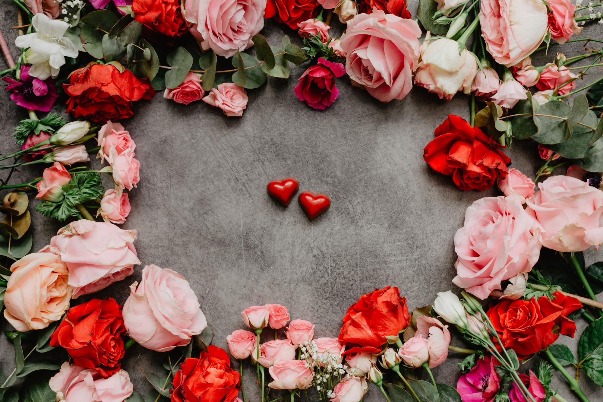 walentynkowe-roze